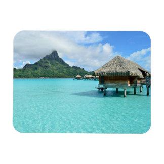 Overwater resort on Bora Bora Rectangular Photo Magnet