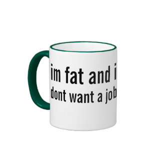overweight and underemployed ringer coffee mug