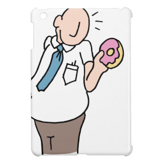 Overweight employee eating too many office snacks iPad mini cover