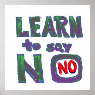 Overwhelmed burdoned:  Aprenda decir no Posters