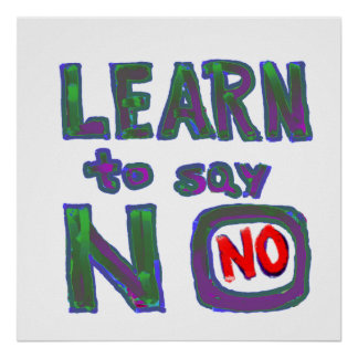 Overwhelmed burdoned :  Learn to say no Print