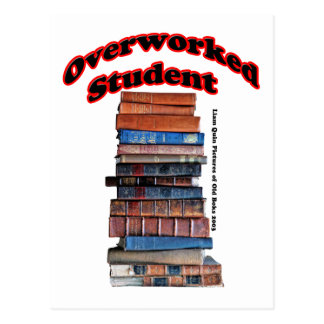 Overworked Student Postcard