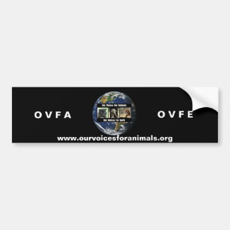 ovfa ovfe bumper sticker car bumper sticker