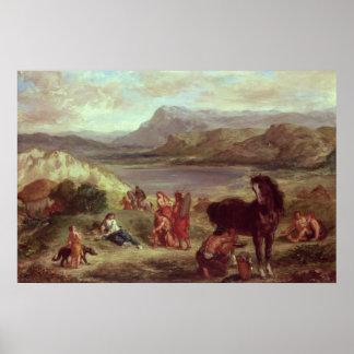 Ovid among the Scythians, 1859 Poster