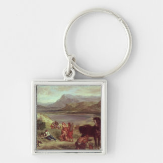 Ovid among the Scythians, 1859 Silver-Colored Square Keychain