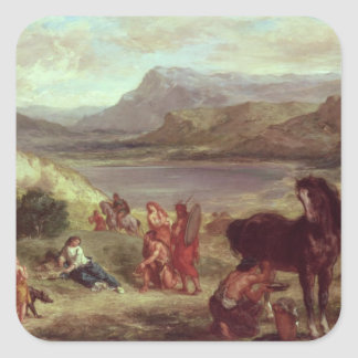 Ovid among the Scythians, 1859 Square Sticker