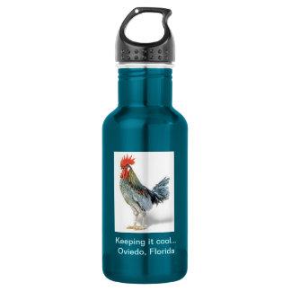 Oviedo Chicken Patriot Blue Stainless Steel Water Bottle