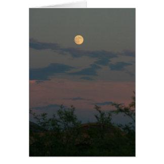 Ovwe Scottsdale de la Luna Llena Tarjeta De Felicitación