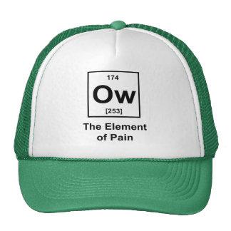Ow, el elemento del dolor gorras