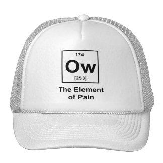 Ow, el elemento del dolor gorro de camionero