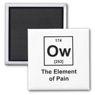 Ow, el elemento del dolor imán cuadrado