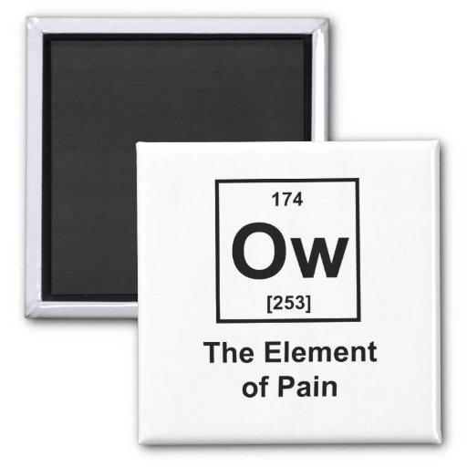 Ow, el elemento del dolor imán de frigorífico