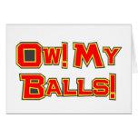 Ow! My Balls! Card