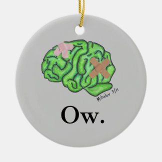 """""""Ow"""" ornament"""