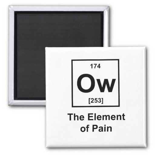 Ow, The Element of Pain 2 Inch Square Magnet