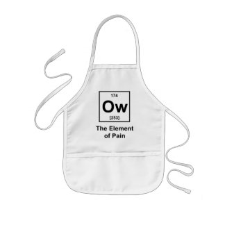 Ow, The Element of Pain Kids' Apron
