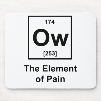 Ow, The Element of Pain Mouse Pad