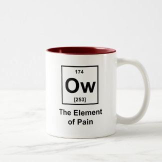 Ow, The Element of Pain Two-Tone Coffee Mug