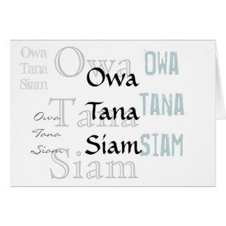 Owa Tana Siam -- An apology Card