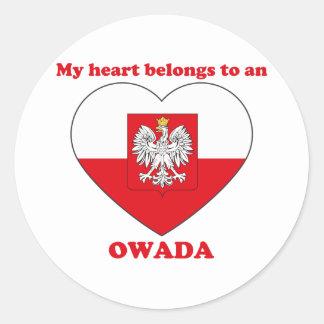 Owada Etiqueta Redonda
