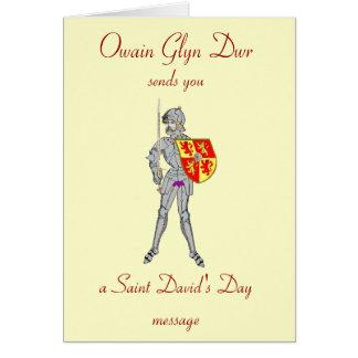Owain Glyn Dwr, el día de St David Tarjeta De Felicitación