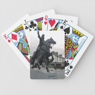 Owain Glyndŵr Statue in Corwen, Wales Playing Cards