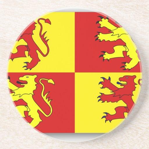 Owain Glyndwr, United Kingdom flag Beverage Coaster