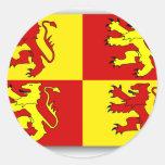 Owain Glyndwr, United Kingdom flag Round Stickers