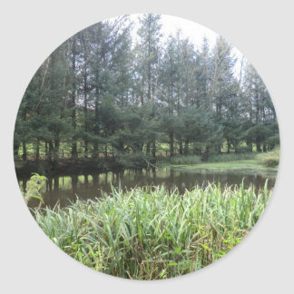 Owain Glyndŵr's Fishpond at Sycharth Castle Classic Round Sticker