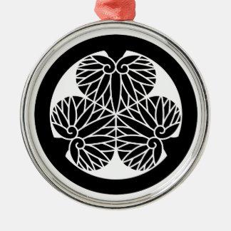 Owari hollyhock(Shiori17) Metal Ornament