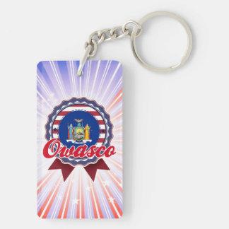 Owasco, NY Double-Sided Rectangular Acrylic Keychain