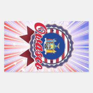 Owasco, NY Rectangular Sticker