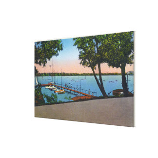 Owasco Yacht Club View of Owasco Lake Canvas Print
