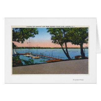 Owasco Yacht Club View of Owasco Lake Greeting Card