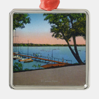 Owasco Yacht Club View of Owasco Lake Metal Ornament