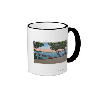 Owasco Yacht Club View of Owasco Lake Ringer Coffee Mug
