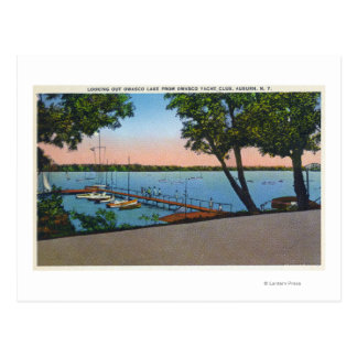 Owasco Yacht Club View of Owasco Lake Postcard