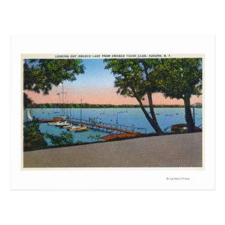 Owasco Yacht Club View of Owasco Lake Postcard