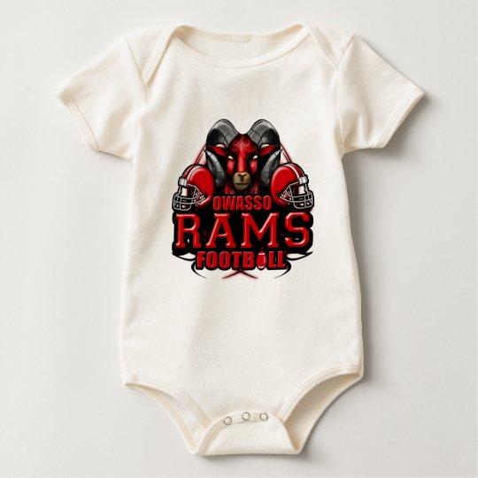 OwassoRams11.png Baby Bodysuit