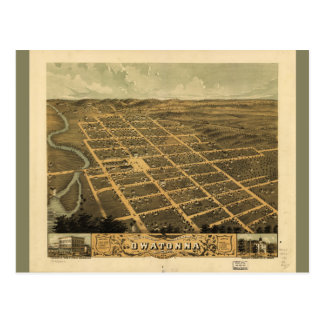 Owatonna, Steele County, Minnesota (1870) Postcard