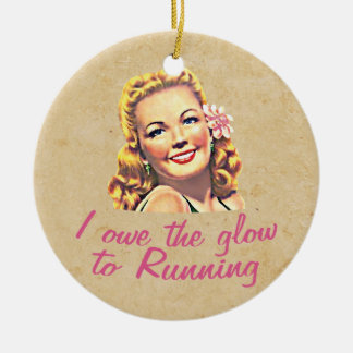 Owe The Glow Double-Sided Ceramic Round Christmas Ornament