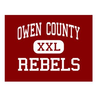 Owen County - Rebels - High - Owenton Kentucky Postcard