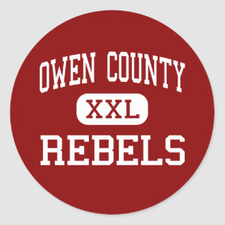 Owen County - Rebels - High - Owenton Kentucky Classic Round Sticker