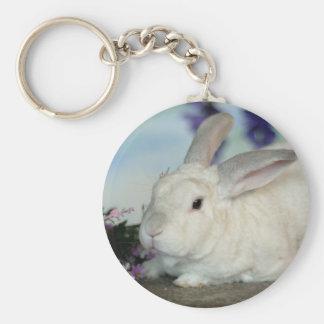 Owen el conejo llavero redondo tipo pin