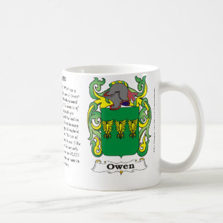 Owen Family Coat of Arms mug