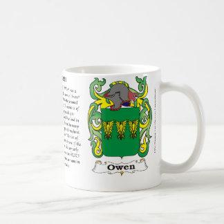 Owen Family Coat of Arms mug