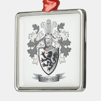 Owen Family Crest Coat of Arms Metal Ornament