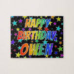 "[ Thumbnail: ""Owen"" First Name, Fun ""Happy Birthday"" Jigsaw Puzzle ]"