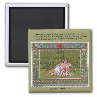 Owen Jones - For behold we were binding sheaves 2 Inch Square Magnet