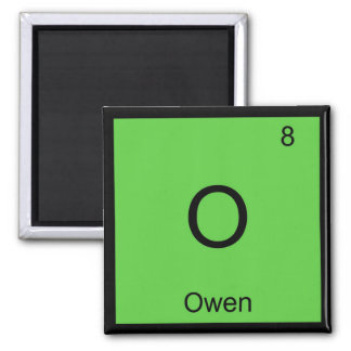 Owen Name Chemistry Element Periodic Table Magnet